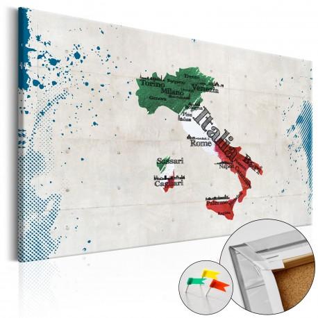 Tableau en liège  Italy [Cork Map]