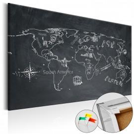 Tableau en liège - Travel broadens the Mind [Cork Map]