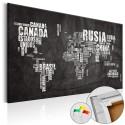 Tableau en liège - Mundo Negro [Cork Map]