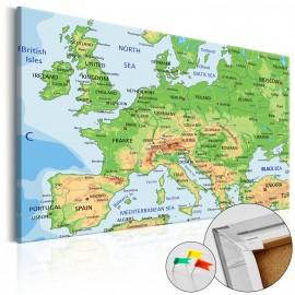 Tableau en liège - Europe [Cork Map]