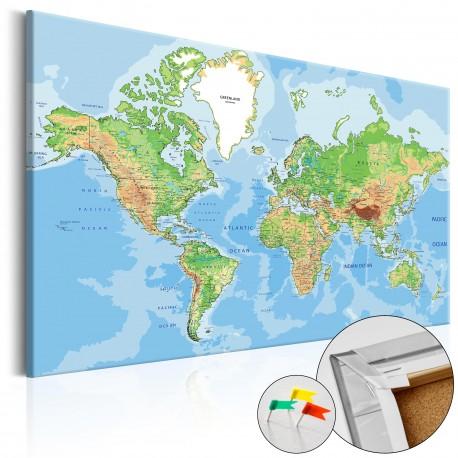 Tableau en liège  World Geography [Cork Map]