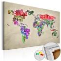Tableau en liège - Global Tournée (EN) [Cork Map]