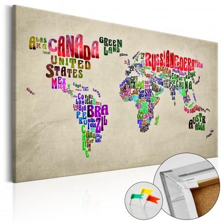 Tableau en liège  Global Tournée (EN) [Cork Map]