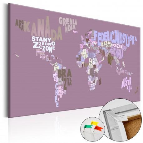 Tableau en liège  Fairytale World (PL) [Cork Map]