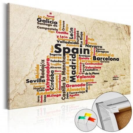 Tableau en liège  Spanish Cities (ES) [Cork Map]