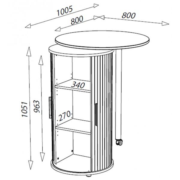 desserte alinea berlioz. Black Bedroom Furniture Sets. Home Design Ideas