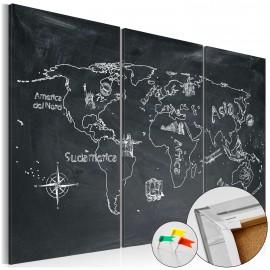 Tableau en liège - Geography lesson [Cork Map]