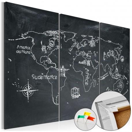 Tableau en liège  Geography lesson [Cork Map]
