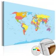 Tableau en liège  Rainbow Geography [Cork Map]