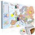 Tableau en liège - World Maps: Europe [Cork Map]