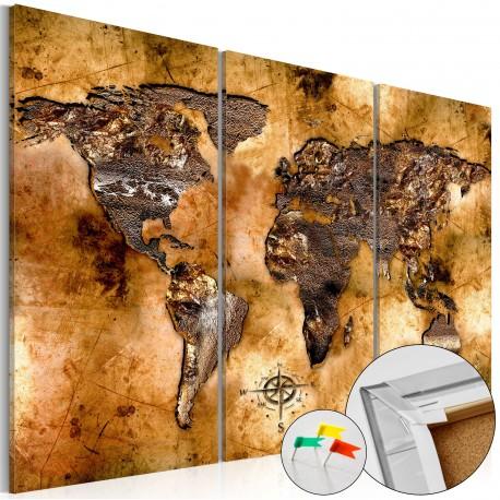 Tableau en liège  Shade of Gold [Cork Map]