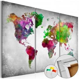 Tableau en liège - Diversity of World [Cork Map]