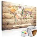 Tableau en liège - The World at Your Fingertips [Cork Map]