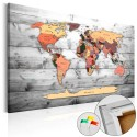 Tableau en liège - Direction World [Cork Map]