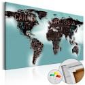 Tableau en liège - Subtlety of the World [Cork Map]