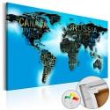 Tableau en liège - Blue World [Cork Map]