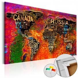 Tableau en liège - Impressive World [Cork Map]