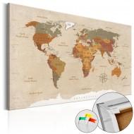 Tableau en liège  Beige Chic [Cork Map]