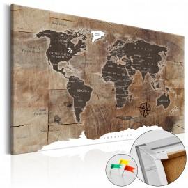 Tableau en liège - Wooden Mosaic [Cork Map]