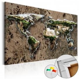 Tableau en liège - Wild World [Cork Map]