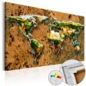 Tableau en liège - World Jungle [Cork Map]