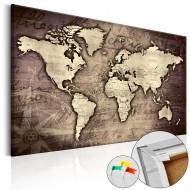 Tableau en liège  Precious World [Cork Map]