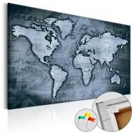 Tableau en liège  Sapphire World [Cork Map]