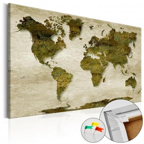 Tableau en liège  Forest Planet [Cork Map]