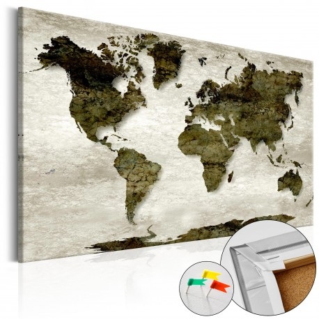 Tableau en liège  Green Planet [Cork Map]