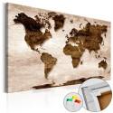 Tableau en liège - The Brown Earth [Cork Map]