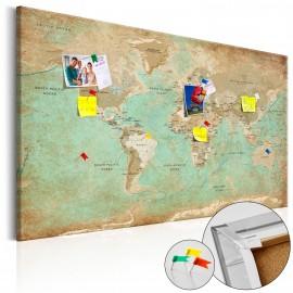 Tableau en liège - Voyage céladon [Cork Map]