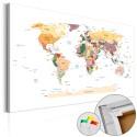 Tableau en liège - World Map [Cork Map]