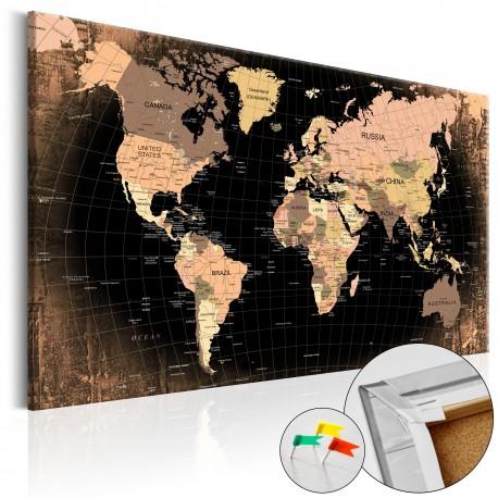 Tableau en liège  Planet Earth [Cork Map]