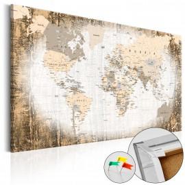 Tableau en liège - Enclave of the World [Cork Map]