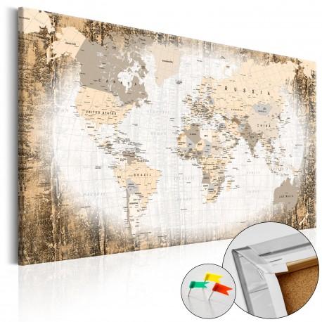 Tableau en liège  Enclave of the World [Cork Map]