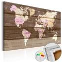 Tableau en liège - Wooden World [Cork Map]