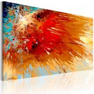 Tableau peint à la main  Explosion