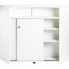 Comptoir d'Acceuil Meuble Bar 2 Portes Blanc