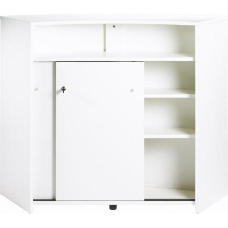 comptoir d 39 acceuil meuble bar 2 portes blanc. Black Bedroom Furniture Sets. Home Design Ideas