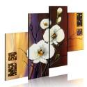 Tableau peint à la main - Orchidée blanche