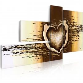 Tableau peint à la main - Vol d'amour