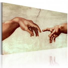 Tableau peint à la main - La création d'Adam: fragment de peinture