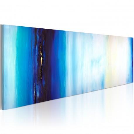 Tableau peint à la main  Liquide bleu