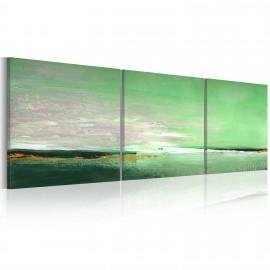 Tableau peint à la main - Côte de la couleur verte