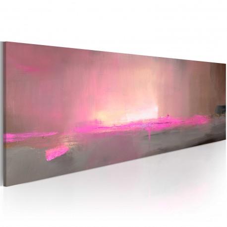 Tableau peint à la main  Lumière rose