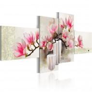 Tableau peint à la main  Parfum de magnolias
