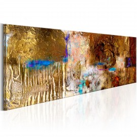 Tableau peint à la main - Golden Structure