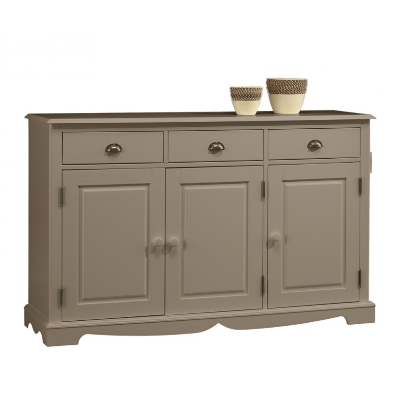 buffet taupe 3 portes 3 tiroirs beaux meubles pas chers. Black Bedroom Furniture Sets. Home Design Ideas