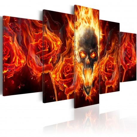 Tableau  Fiery skull