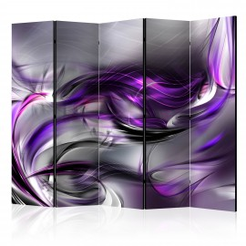 Paravent 5 volets - Purple Swirls II [Room Dividers]
